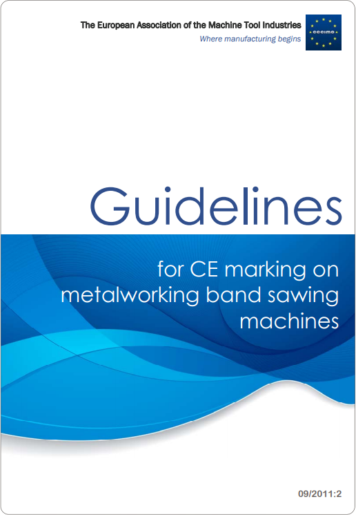 Guidelines for CE marking on metalworking band sawing machines