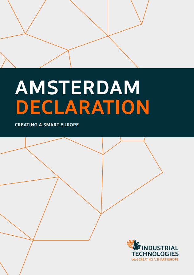 Amsterdam declaration: Creating a smart Europe