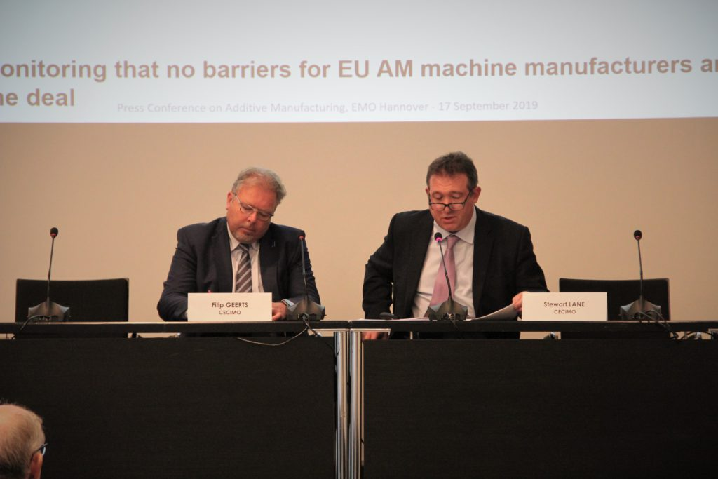 CECIMO Press Release – Additive Manufacturing to be soon at the center stage of the European regulations