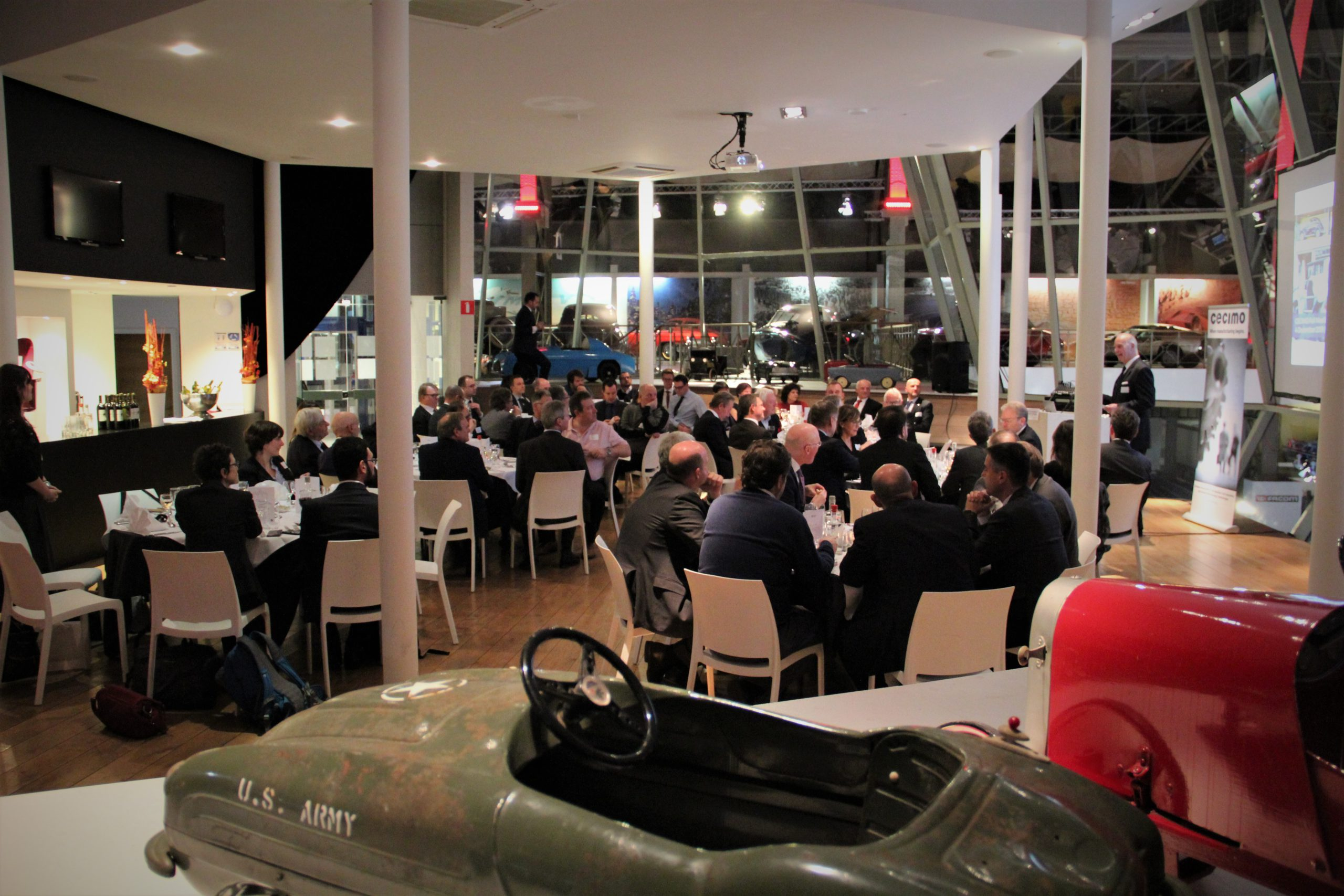 CECIMO Dinner in the Autoworld Museum