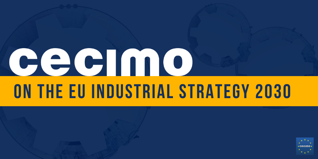 CECIMO on the New Industrial Strategy 2030