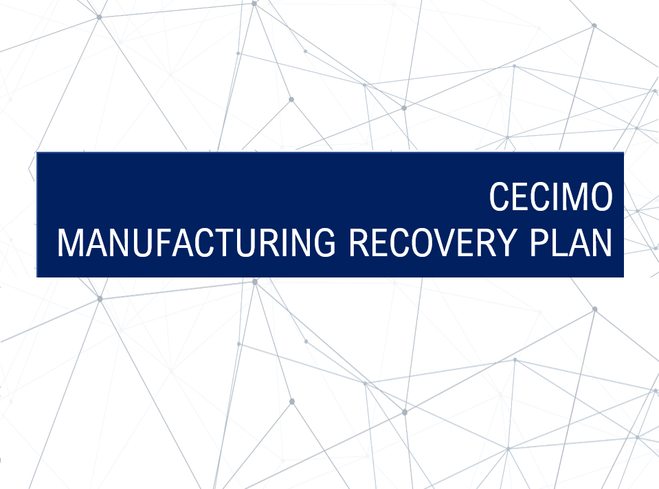 CECIMO Manufacturing Recovery Plan